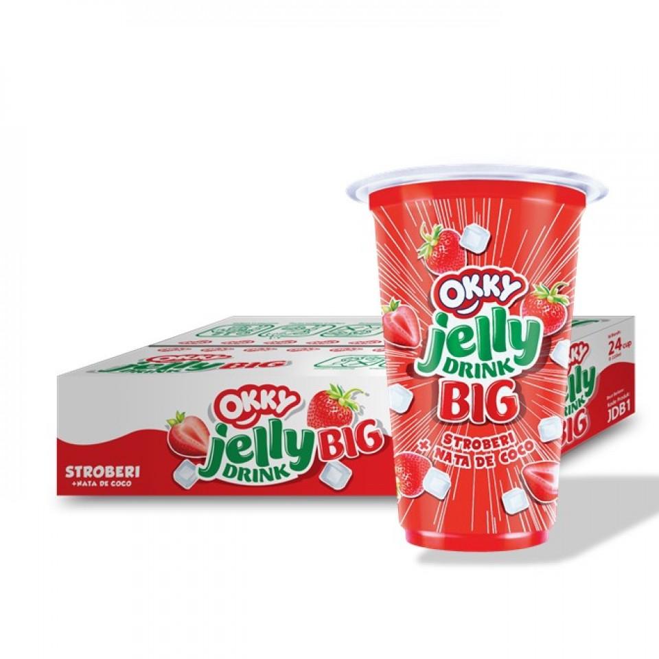 Okky Jelly Drink Big Stroberi 220 Ml Karton Fastanastore